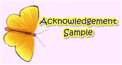 How to write an acknowledgement page for a dissertation